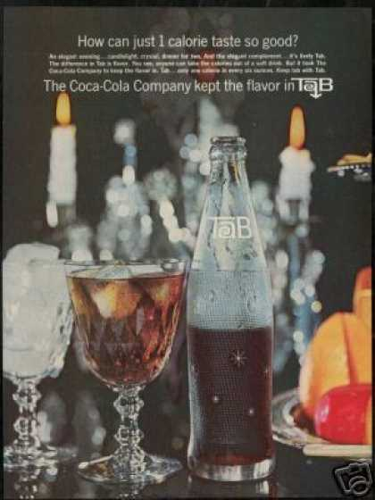 Tab Bottle Photo By Coke 1 Calorie Vintage (1964)