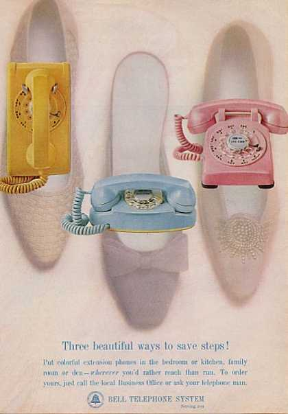 Bell Telephone Table Wall Princess Styles (1964)