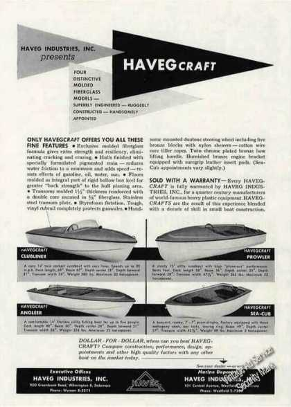 Havegcraft Molded Fiberglass Boat Photos (1956)