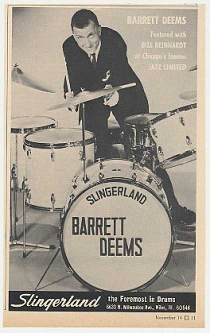 Barrett Deems Slingerland Drums Photo (1968)