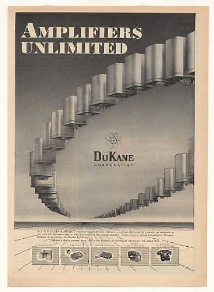 DuKane Defense Project Amplifiers (1955)