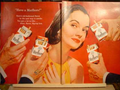 Marlboro Woman and Military men 2 pg (1957)