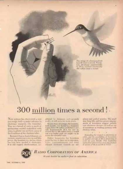RCA Corporation of America – 300 million times a second (1952)
