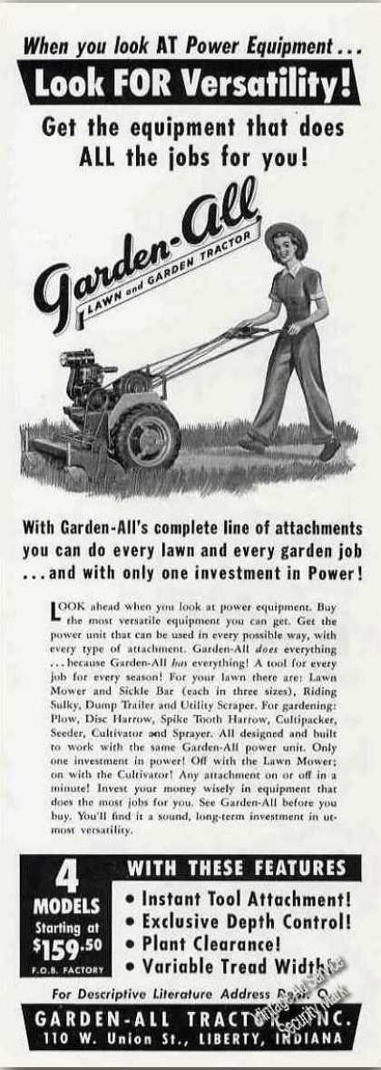 Garden-all Lawn & Garden Tractor Liberty In (1949)