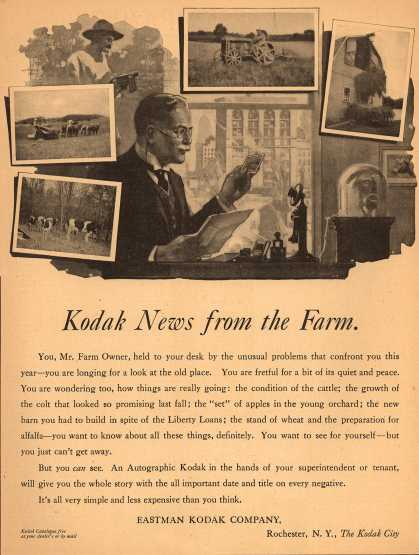 Kodak – Kodak News from the Farm (1919)