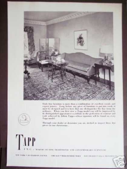 Tapp Fine Furniture 30's Decor Photo (1937)