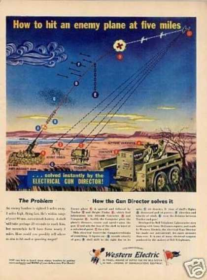 "Western Electric Ad ""How To Hit an Enemy... (1944)"