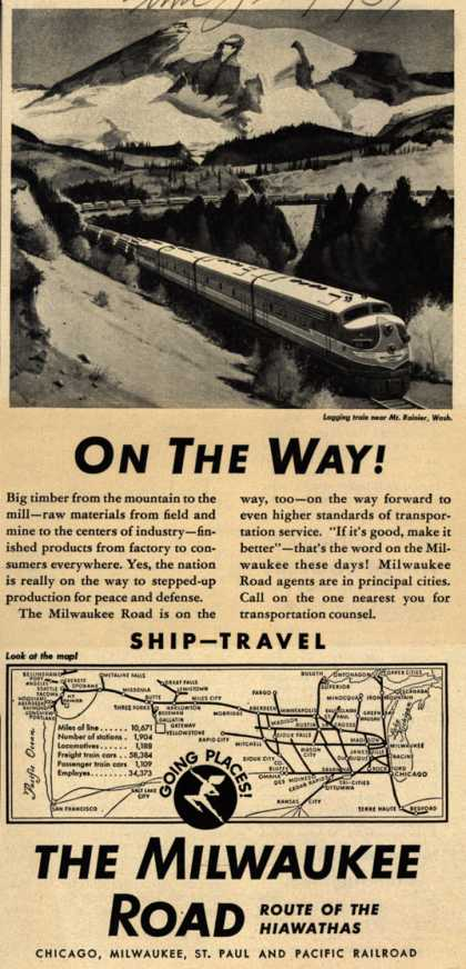 Milwaukee Road's Shipping and Travel – On The Way (1951)