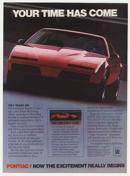 Red Pontiac Trans Am Your Time Has Come Photo (1982)