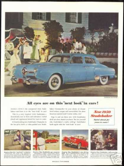 Studebaker Blue Cruiser Red Convertible Car (1950)