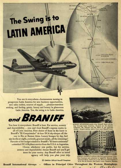 Braniff International Airway's Latin America – The Swing is to Latin America (1951)