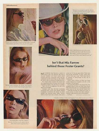 Mia Farrow Foster Grant Sunglasses Photo (1966)