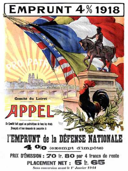 L'Emprunt de la Défense Nationale, French war poster