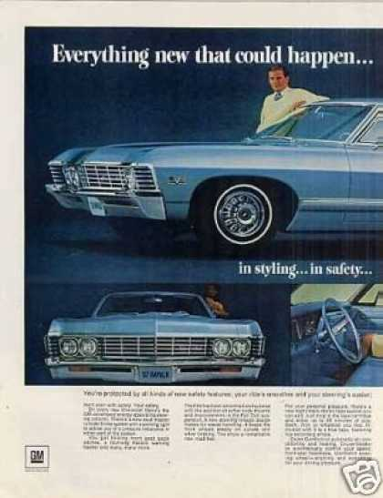Chevrolet Impala Sport Coupe Ad 2 Page (1967)