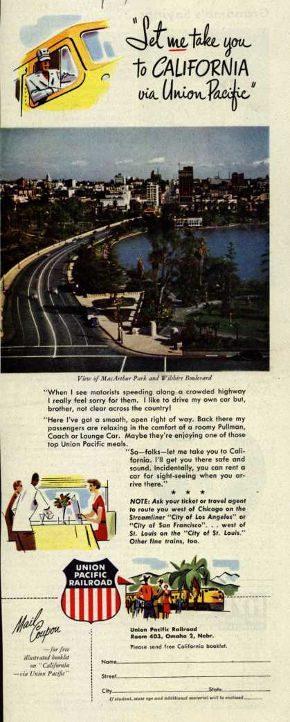 "Union Pacific Railroad's California – ""Let me take you to California via Union Pacific"" (1951)"