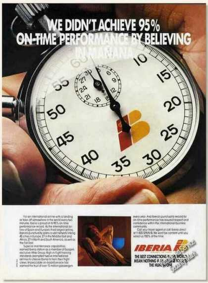 Iberia Airlines 95% On-time Performance (1987)