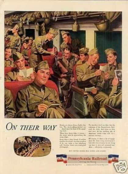 "Pennsylvania Railroad Ad ""On Their Way... (1944)"