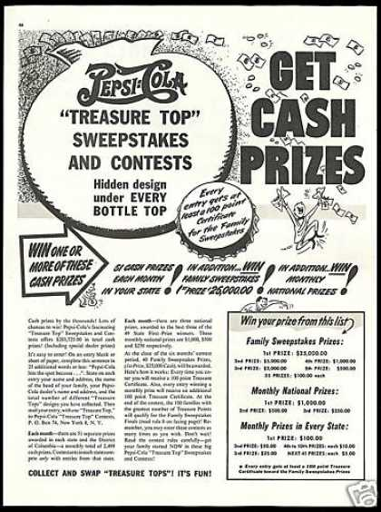 Pepsi Cola Treasure Top Sweepstakes Contest (1948)