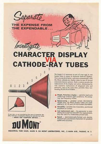 '58 Du Mont Cathode-Ray Tube Character Display (1958)