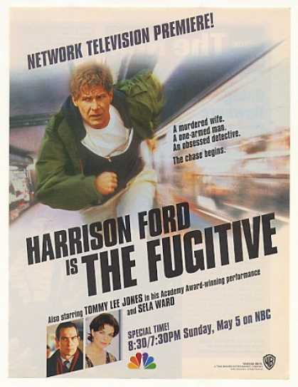 '96 Harrison Ford The Fugitive NBC TV Premiere (1996)