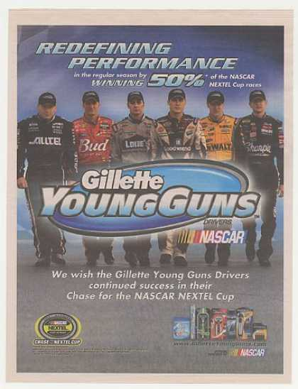 Gillette Young Guns NASCAR Drivers Photo (2004)
