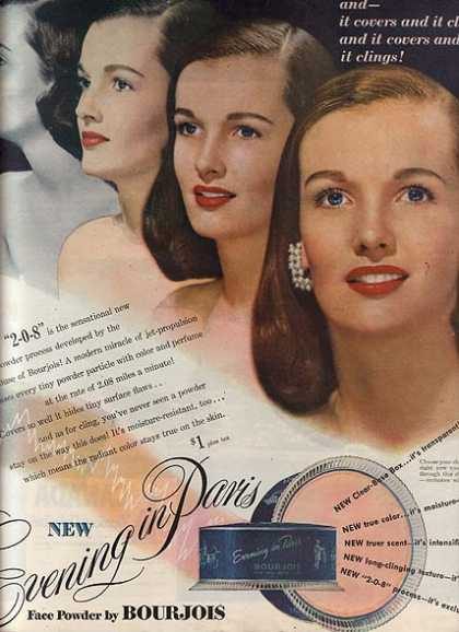 Bourjoi's Evening in Paris Face Powder (1947)