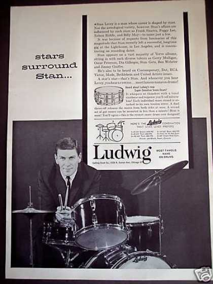 Drummer Stan Levey Photo Ludwig Drums (1961)