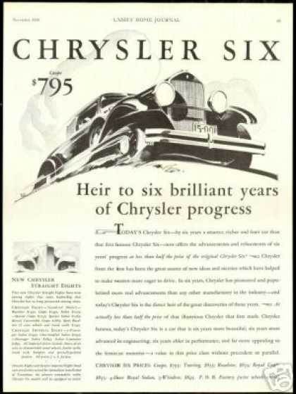 Chrysler Six Sedan Straight 8 Vintage Car (1930)