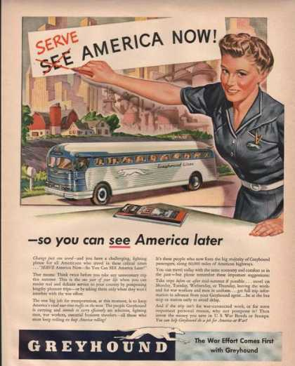Serve America Now Greyhound Bus (1942)