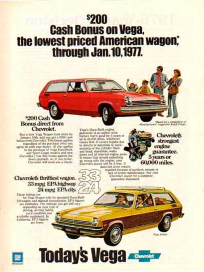 Chevrolet Car – Vega Estate Wagon / Yellow with panels – GM (1976)