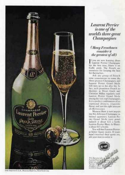Laurent Perrier Champagne Photo Rare (1975)