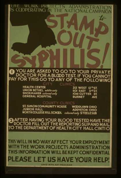 The Work Projects Administration is cooperating in the national campaign to stamp out syphilis! – Please let us have your help (1936)