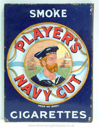 Player's Navy Cut Tobacco Sign