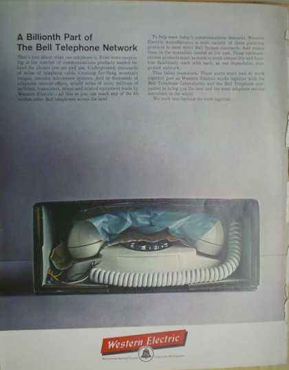 Western Electric Telephone Phone A billionth part (1962)