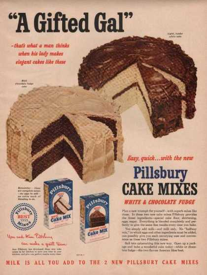 Pillsbury Cake Mixes White & Chocolate (1949)