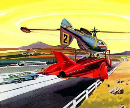 "Airborne ""tow trucks"" for the world's safest highway! Vanadium Corporation of America, Jo Kotula (1959)"