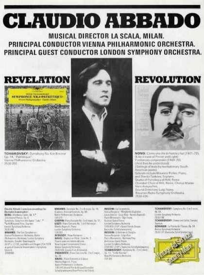 Claudio Abbado Photo Conductor Uk (1974)
