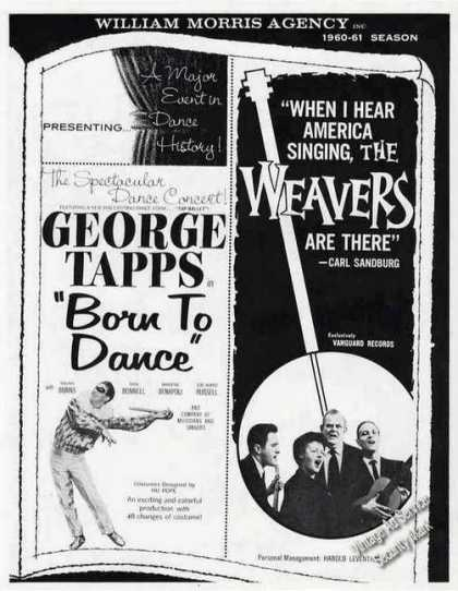 "George Tapps ""Born To Dance"" & Weavers Booking (1960)"