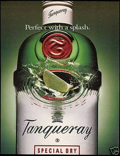 Big Tanqueray Gin Bottle Lime Splash (1993)