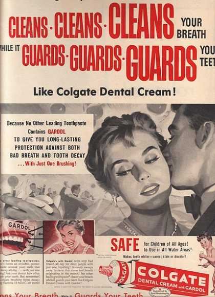 Colgate's Dental Cream with Gardol (1957)