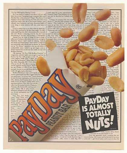 PayDay Candy Bar Almost Totally Nuts (1992)