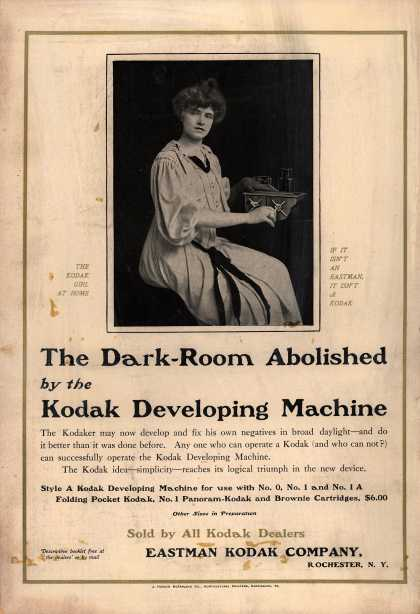 Kodak – The Dark-Room Abolished by the Kodak Developing Machine