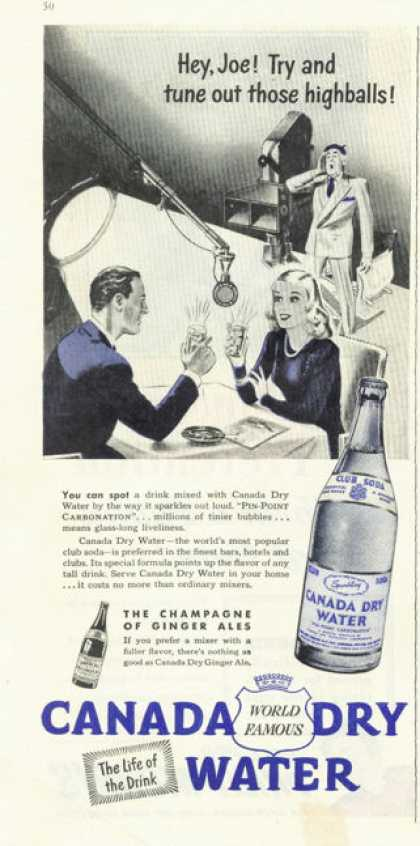 Canada Dry Water Ginger Ale (1945)