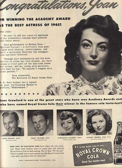 Royal Crown Cola – Joan Crawford (1946)