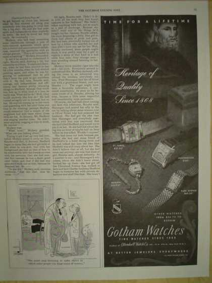 Gotham Watches. History of quality since 1868 (1945)