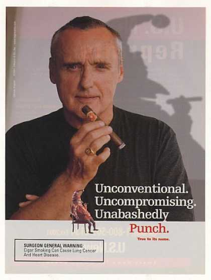 Dennis Hopper Punch Cigar Photo (2001)