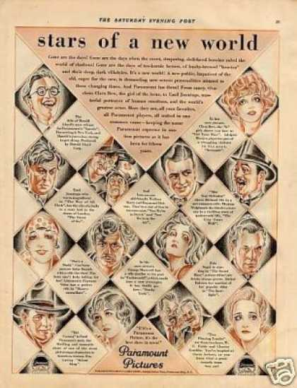 "Paramount Pictures Ad ""Stars of a New World... (1927)"