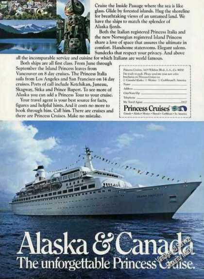 Island Princess Cruise Ship Alaska & Canada (1973)