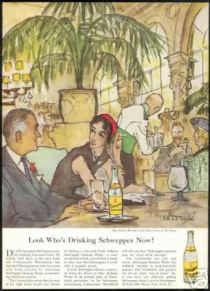 SchweppesThe Palm Court The Plaza Bouche Art (1953)