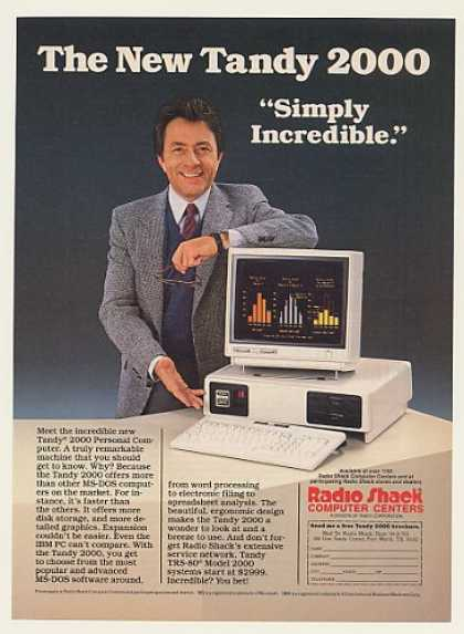 Bill Bixby Radio Shack Tandy 2000 Computer (1984)
